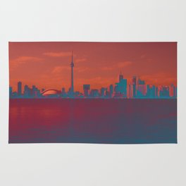CN Tower skyline Rug