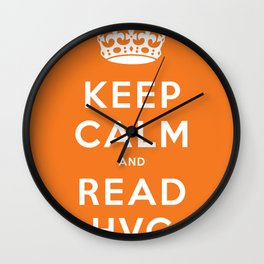 Keep calm and read HVG Wall Clock
