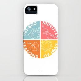 Seasons of Love iPhone Case
