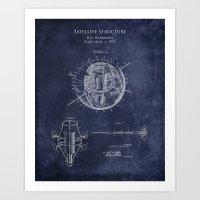 1950s Satellite Patent Print Art Print