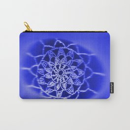 Oil on Rock -- negative image -- deep blue Carry-All Pouch