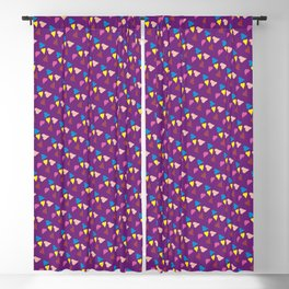 Ultra violet hearts Blackout Curtain