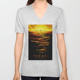 Titan - NASA Space Travel (Alternative) Unisex V-Neck