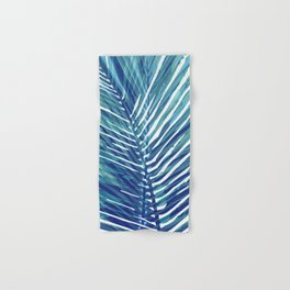 Abstract Palm Leaves | Blue Hand & Bath Towel