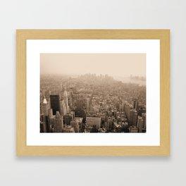 Sky Smog  Framed Art Print