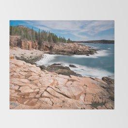 Acadia National Park - Thunder Hole Throw Blanket