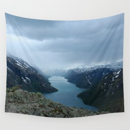 Down the Fjord Wall Tapestry