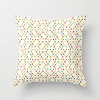 geek Throw Pillows featuring Geek by Helene Michau