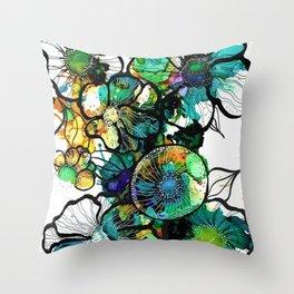 Turquoise Efflourescence Throw Pillow