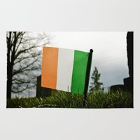 irish Area & Throw Rugs featuring Irish graveside by Vorona Photography