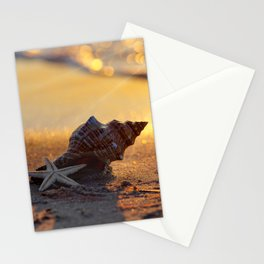Golden Summer on the Beach Stationery Cards