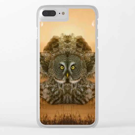 The greatest great gray of them all Clear iPhone Case