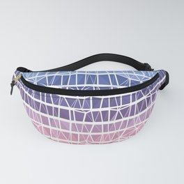 Low Poly Pink, Purple, and Blue Gradient Fanny Pack