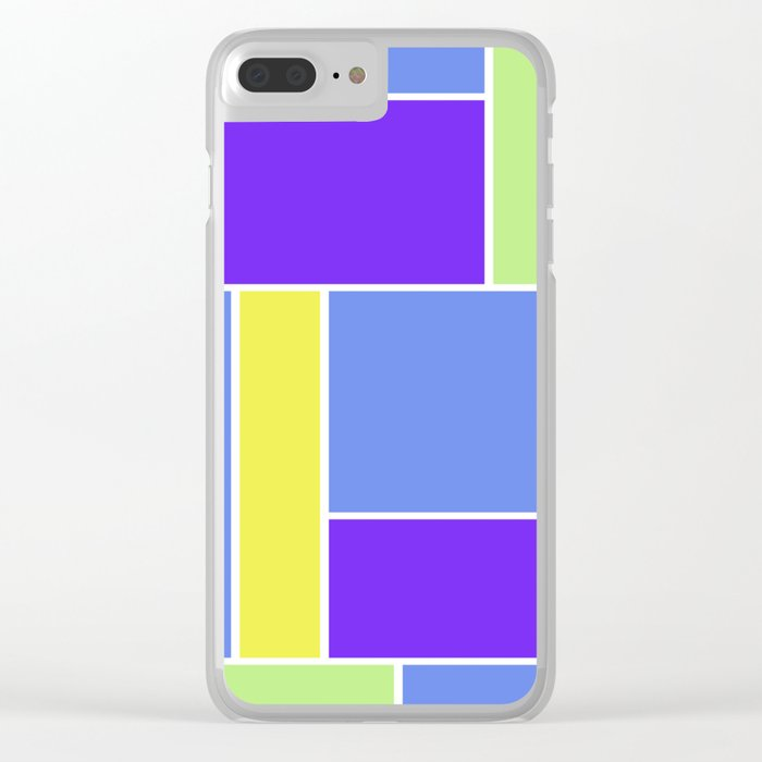 Abstract #461 Clear iPhone Case