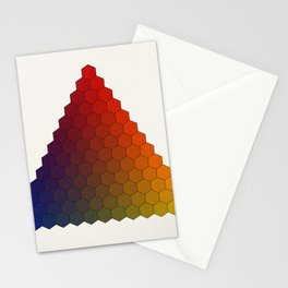 Lichtenberg-Mayer Colour Triangle variation, Remake using Mayers original idea of 12+1 chambers Stationery Cards