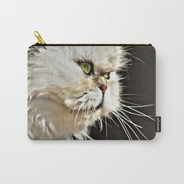 White Persian Cat Carry-All Pouch