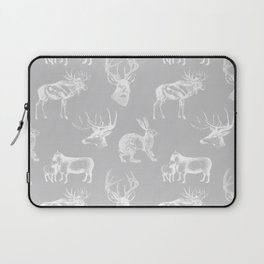 Woodland Critters in Grey Laptop Sleeve