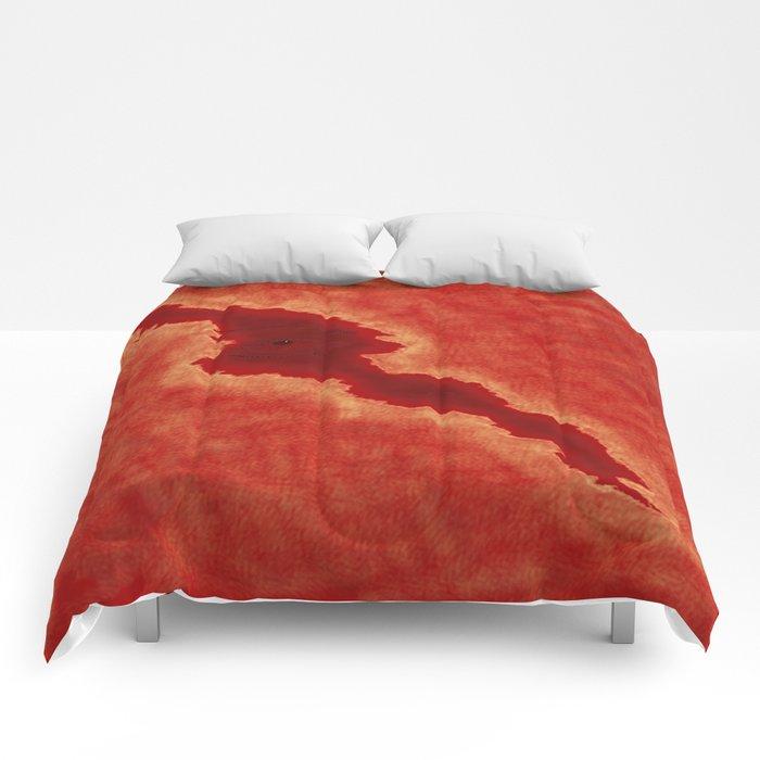 Red Eye Crack Comforters
