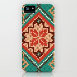 Retro Folk Floral Pattern iPhone Case