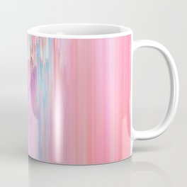 Abstract Cascade Glitch 2.Red and Pink Coffee Mug