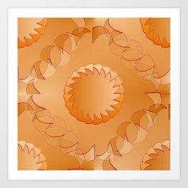 Rounded orange 2 Art Print