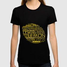 Typographic lemon T-shirt