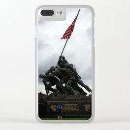 Marine Corps War Memorial Clear iPhone Case