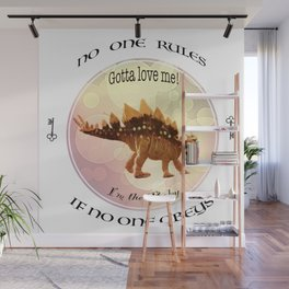 No One Rules If No One Obeys Baby Scelidosaurus Dinosaur Design for #Society6 Wall Mural