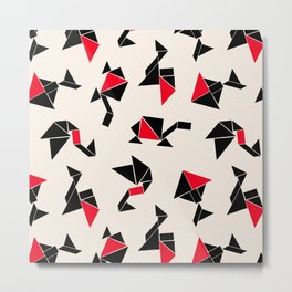 Tangram Animals Metal Print