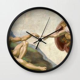 Michelangelo - Creation of Adam Wall Clock