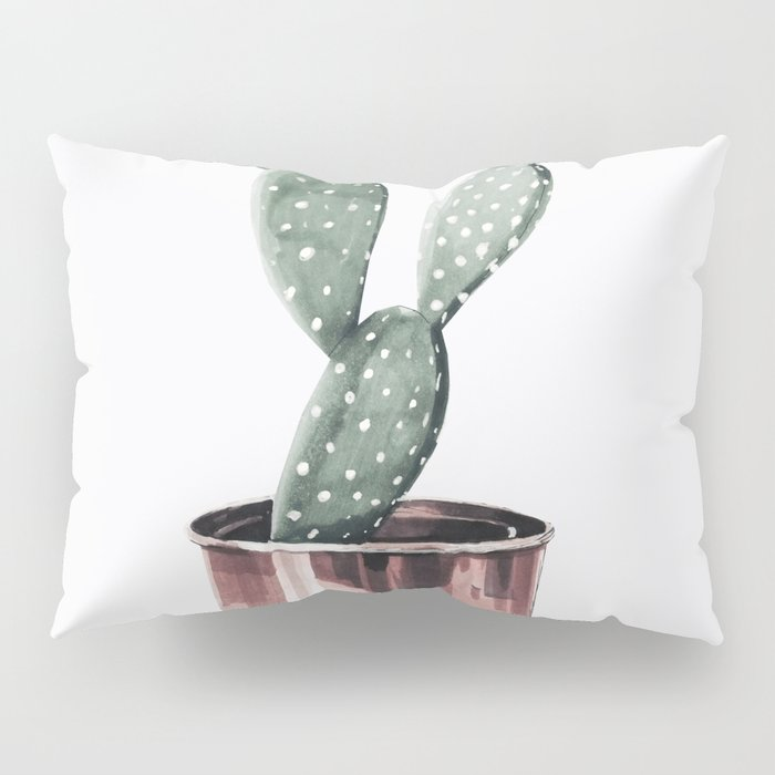 Potted Cactus Rose Gold Pillow Sham