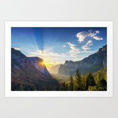 Yosemite Sunburst Art Print