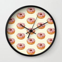 PINK DONUTS Wall Clock