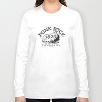 punk rock Long Sleeve T-shirts featuring Punk Rock Plymouth Ma. by Kris Petrat Design :  Art Love Moto