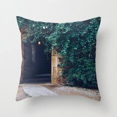 Into the Ivy, Down the Hall Throw Pillow