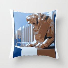 Empire Exhibition Glasgow 1938 Art Deco Throw Pillow