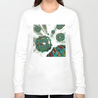 cyberpunk Long Sleeve T-shirts featuring Coral Reef by Obvious Warrior