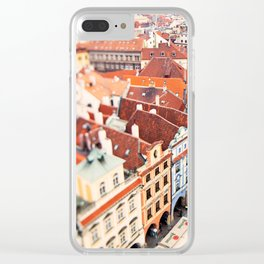 Red Roof Prague Clear iPhone Case