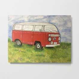 Lukes red van Metal Print