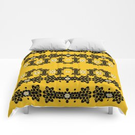 Ornate circulate is festive in  flower decorative Comforters