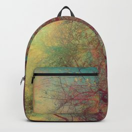 Tree Silhouette, Autumn Sunset Backpack