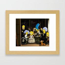 Las Meninas - Simpsonized Framed Art Print