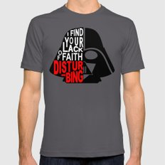 I Find Your Lack of Faith Disturbing LARGE Mens Fitted Tee Asphalt