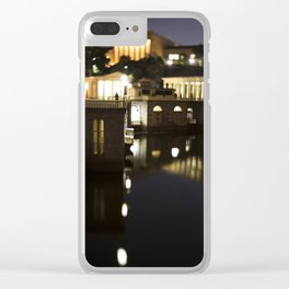 Philly Night Reflections Clear iPhone Case