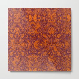 Royal Paisley  Metal Print