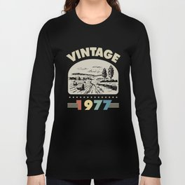 Birthday Gift Vintage 1977 Classic Long Sleeve T-shirt