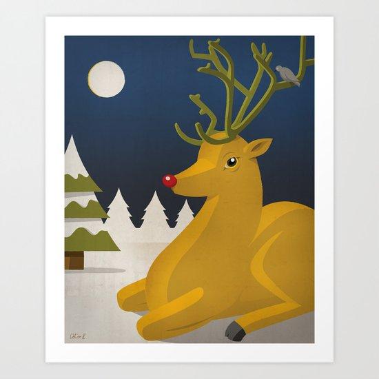 Reindeer's Strike Art Print