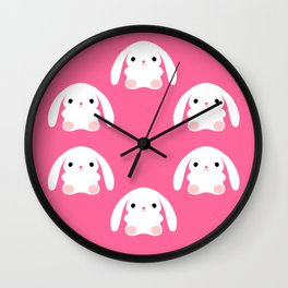 Mei the Strawberry Rabbit Wall Clock