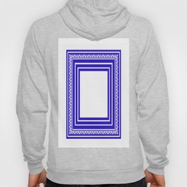 Blue and White Lines Geometric Abstract Pattern Hoody
