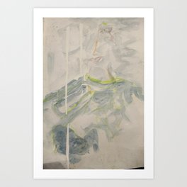 Lior in the Clouds  Art Print